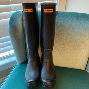 Hunter Rain Boots - Black Size 8